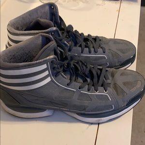 Adidas Adizero gray, size 12, excellent condition.